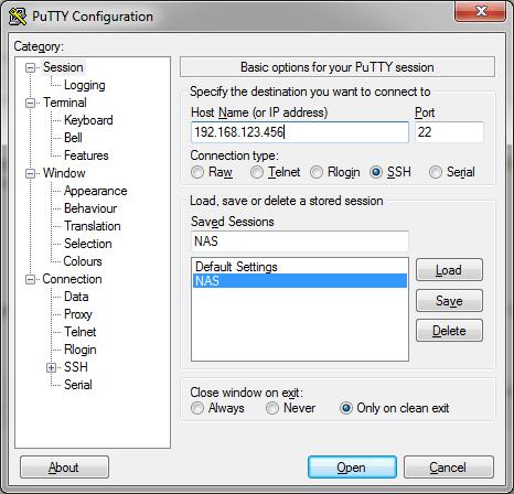Connexion SSH avec PuTTY